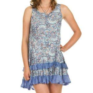 Papillon ruffle and lace dress